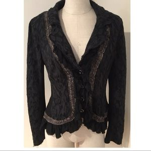 Free People Black Boho Women's Blazer Jacket